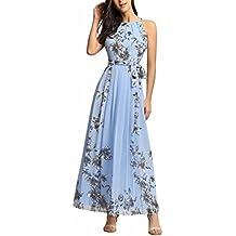 Ruiyige Mujeres Floral Impresi?n Partido Vestido Maxi Partido Vestido Para La Boda