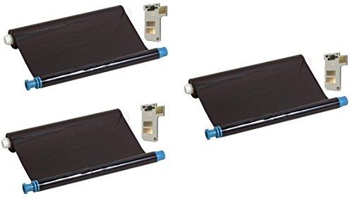 Preisvergleich Produktbild 3x kompatibler Ink-Film Faxfilm ersetzt Philips PFA351 mit Chip
