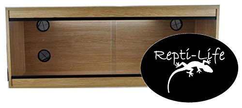 Repti-Life 48x24x24 Inch Vivarium Flatpacked In Oak, 4ft Viv