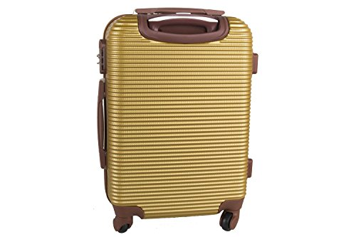Maleta rígida PIERRE CARDIN oro mini equipaje de mano ryanair S320