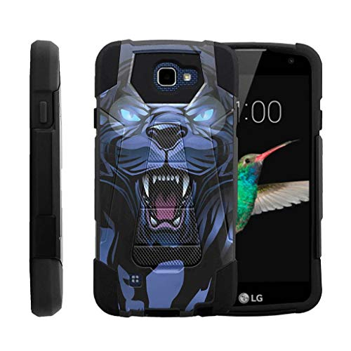 turtlearmor | Kompatibel für LG K4 Fall | Optimus Zone 3 | LG Spree | LG Rebel [Dynamischer Shell] Hybrid Zwei Layer Fall Impact Absorber Schock Silikon Cover Hard Ständer Animal -, Fierce Panther (Lg Optimus Zone 2 Fällen)