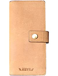 ABYS Valentine Gift-Genuine Leather Coin Purse||Card Case||Long Wallet||Card Holder With Mobile Slot