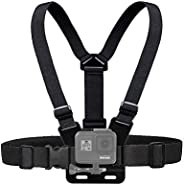 Aulex Chest Mount Harness Compatible with Gopro Hero 8 Black, 7, 6, 5, Black, Session, Hero 4, Session, Black, Silver, Hero+