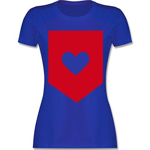 Symbole - Herz - tailliertes Premium T-Shirt mit Rundhalsausschnitt für  Damen Royalblau
