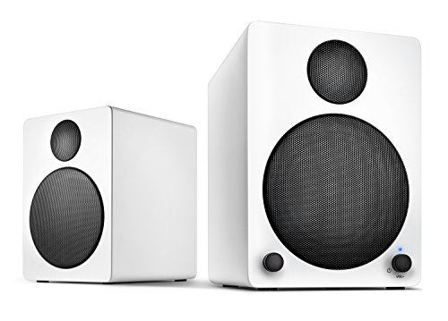 Wavemaster Cube white Regal-Lautsprecher System (50 Watt) mit Bluetooth-Streaming 2.0 Aktiv-Boxen Nutzung für TV/Tablet/Smartphone weiß (66321) (Wireless-lautsprecher Bluetooth Cube)