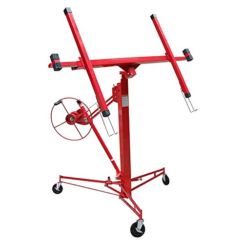 ReaseJoy 3.3m(11') Drywall Plaster Board Lift 68kg(150lb) for Panel Lifter Dry Wall Jack Sheetrock Hoist Red Test