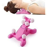 WANGXN Masajeador Portátil Cervical del Cuello del Balanceador del Massager del Cuidado Cervical,Pink