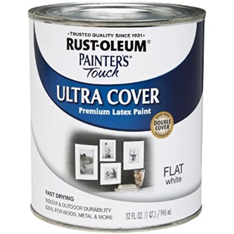 Pintura Oleum 1 Quart Flat White Painters Touch Multiprop-sito 1990-502