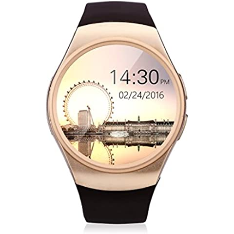 Excelvan KW18 - 4G Ajustable Smartwatch Smartphone Reloj Android iOS (Pantalla 1.3'', 4G micro SIM, Bluetooth 4.0, Ritmo Cardíaco, Podómetro, Monitor de Sueño)