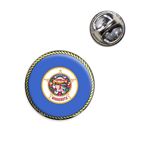 Minnesota State Flag Lapel Hat Tie Pin