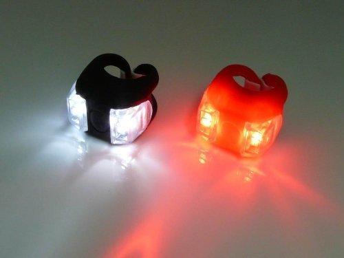 1 Par Led de luz muy brillante de bicicletas Bike Led Monte Luz al Tenedor manillar Tija rojo y blanco de la rana Luz