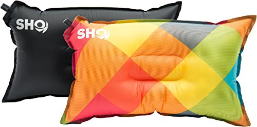 YOUR Pillow! by SHO - Ultimate Self Inflating Camping Pillow, Travel Pillow, Air Pillow, Inflatable Pillow & Festival Pillow - Lifetime Guarantee (Multicoloured)