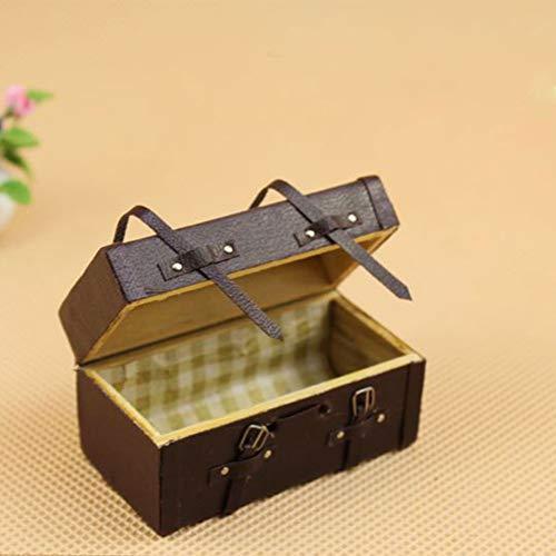 MAJGLGE Majgle Miniatur-Koffer, Modell Puppenhaus, Vintage, Holz, Kunstleder, Mini-Koffer, ()