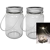 Spetebo - Lámparas hechas en tarros de cristal (2 unidades, luz solar, artículo decorativo)