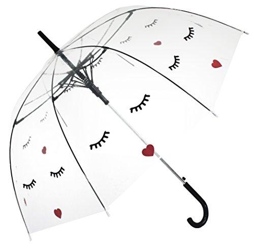 Gesicht, Durchsichtiger, Transparent Designer Damen Regenschirm
