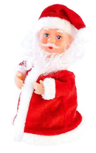 infactory Singender Nikolaus: Singender, Tanzender Weihnachtsmann Rocking Santa, 16 cm (Swinging Santa)
