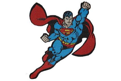 Preisvergleich Produktbild Superman 6,5 cm * 7,8 cm Aufnäher Applikation Bügelbild Superheld Comic Clark