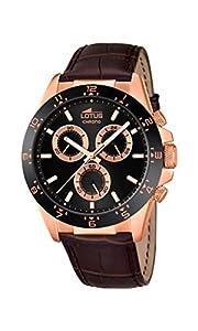 Lotus 18158/4 - Reloj de pulsera hombre, Cuero, color Marrón de Lotus