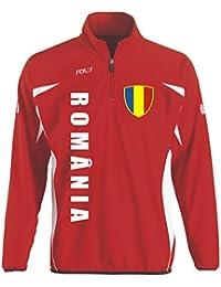 Rumänien Sport Pullover rot SWEATER Trikot look EM 2016 -