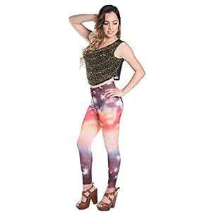 Vangoddy Sunrise Universe De Women S Full Length Legging Tights (AD_LEGCLO032_001CLLeguni)
