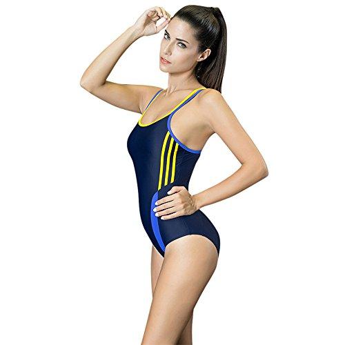 Mujer Bikini Sin espalda de Trajes de baño de una Pieza Bikini de triángulo Deportivos Bañadores de mujer Beachwear 2017 Verano Deportivas Natación profesional Mufly