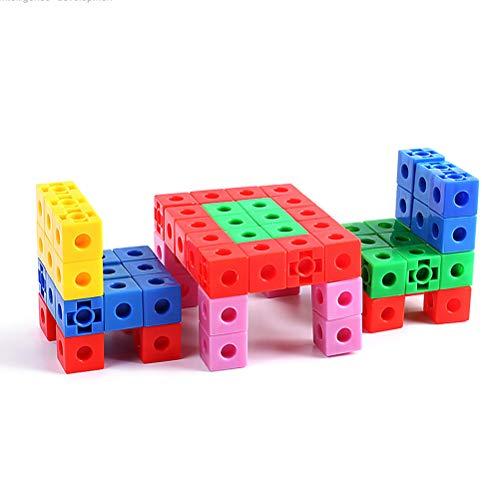 FLORMOON Cubos de matematicas 150 unids Cubos Educativos Contando Juguete Vinculación de Cubos de Unidad de complemento Set de Regalo de cumpleaños de Juguetes de Aprendizaje para niños