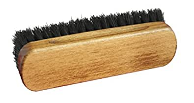 Premium Horsehair Shoe Polishing Buffing Brushes for boots & Shoes (Black Small, Black)