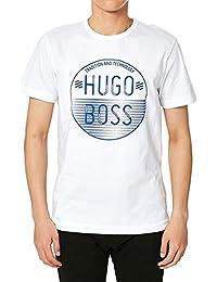 T-shirt en coton Regular Fit à logo imprimé : « Tee 1 » Blanc