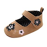 MERICAL Baby Girls Shoes Infant Newborn Soft Sole Flower Decal Princess Shoes Single Shoes