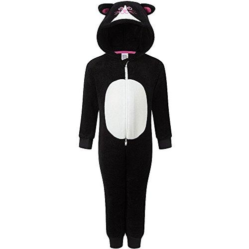 n Superweich Halloween Cat Onesie Overall - Schwarz, Mädchen, 104 (Süße Katze Gesichter Halloween)