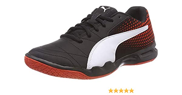 b3516d009d1f Puma Unisex Veloz Indoor Ng Black- White-Cherry Tomato Badminton Shoes - 7  UK India (40.5 EU)(10417301)  Buy Online at Low Prices in India - Amazon.in