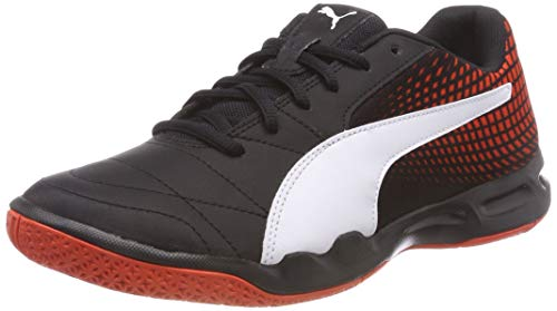 Puma Unisex-Erwachsene Veloz NG Multisport Indoor Schuhe,Schwarz (Puma Black-Puma White-Cherry Tomato 1), 39 EU