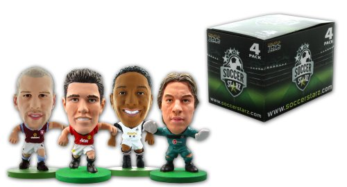 Preisvergleich Produktbild SoccerStarz 4 Figurine Blister Pack of Holland International Stars in Club Kits Featuring van Persie/ Krul/ de Guzman and Ron Vlaar