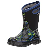 Bogs Kids Classic High Waterproof Insulated Rubber Neoprene Rain Snow Boot, Axel Print/Black/Multi, 10 M US Toddler