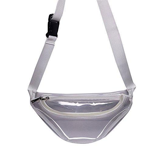 Vertvie Unisex Gürteltasche Laser Wasserdichte Bauchtasche Transparente Verstellbarer Hüfttasche Sport Tasche Joggen Fahrradfahren Reise Laufen Transparent