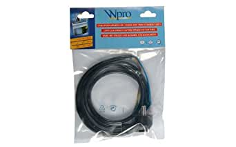 WHIRLPOOL - CABLE HO5 VVF 3G1,5 AVEC PRISE 16A- LONG - 481281729063