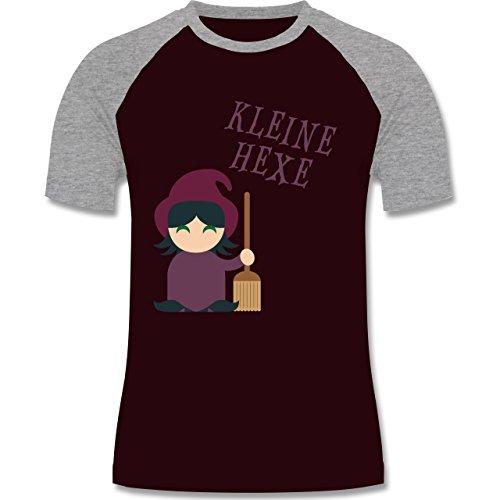 Halloween - Kleine Hexe süß - zweifarbiges Baseballshirt für Männer Burgundrot/Grau meliert