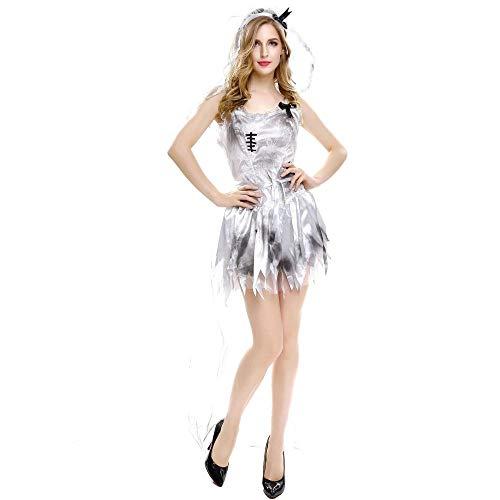 TTWL Damen Halloween Kostüm Vampire Female Ghost Bride Cosplay Weibliche Sexy Game Uniform M (Maid Kostüm Ghost)