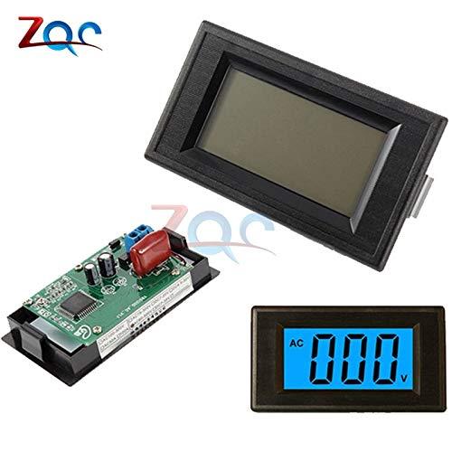 2-Draht blauer digitaler LCD AC 80-500V Volt Panel Spannungs Messer Voltmeter Schaltung StromVersorgung -