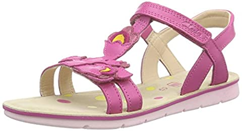 Clarks MimoGracie Jnr, Mädchen Knöchelriemchen Sandalen, Pink (Pink Leather), 34