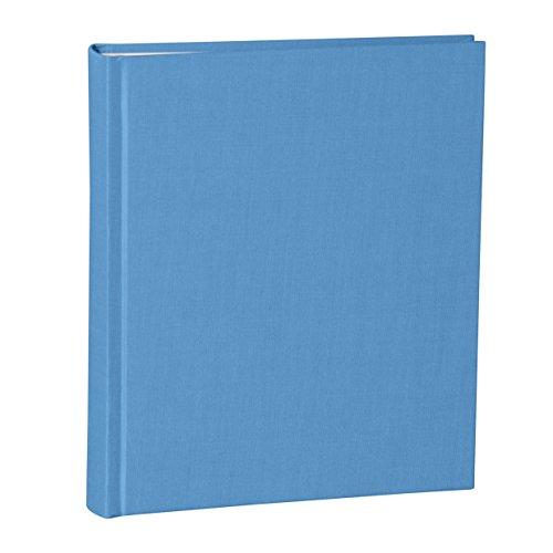 Semikolon (357547) Album Medium azzuro (hell-blau) | Foto-Album/Foto-Buch mit 40 Blättern cremeweißem Fotokarton mit Pergaminpapier | 21,6 x 25,5 cm