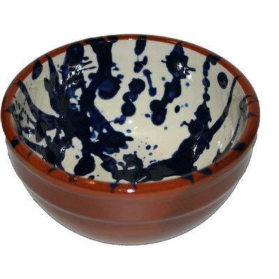Amazing Cookware Bol /à pudding en terre cuite Motif spirale Bleu//cr/ème 13 cm