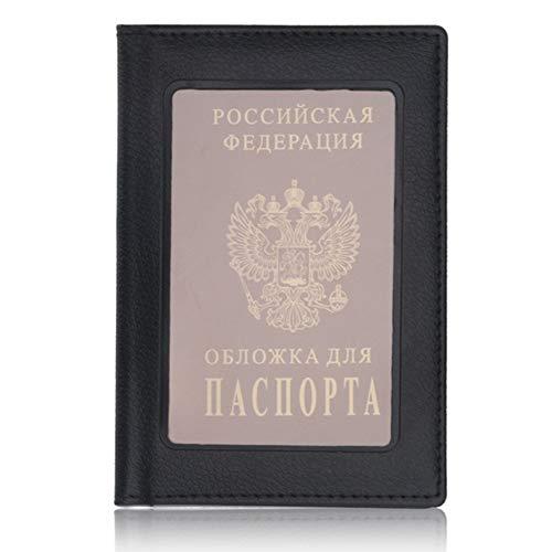 Black Leder Passport Wallet - Passport Abdeckungen PU Leder Pass Halter