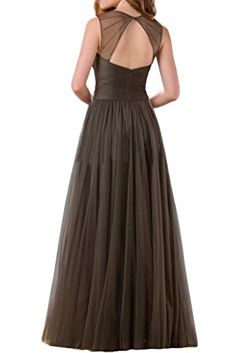 Milano Bride Damen Zwei-Traeger Lang Abendkleider Festkleider Ballkleider Brautjungferinkleider Faltenwurf Dunkelgruen