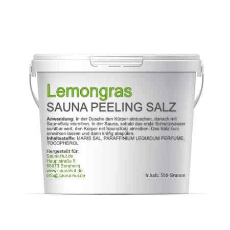 alzöl) 500 Gramm Meersalz Peeling mit ÖL | Peeling Salz | Duschsalz | Sauna Salz Peeling | (Lemongras) ()