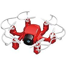 FQ777 126C Mini RC Quadcopter Drone con 2MP HD Vedio Cámara 2.4Ghz 4CH 6-axis Gyro Remote Control Modo sin cabeza y una tecla de retorno Función Spider Mini Drones Arerial UAV para principiantes (Rojo)