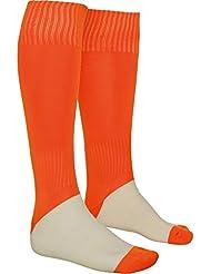 Calcetas deportivas de alta duración, canalé con elasticidad progresiva adaptandose a diferentes medidas, zonas elásticas para una mejor sujeción. Unisex. Naranja. Talla KID (31/34)