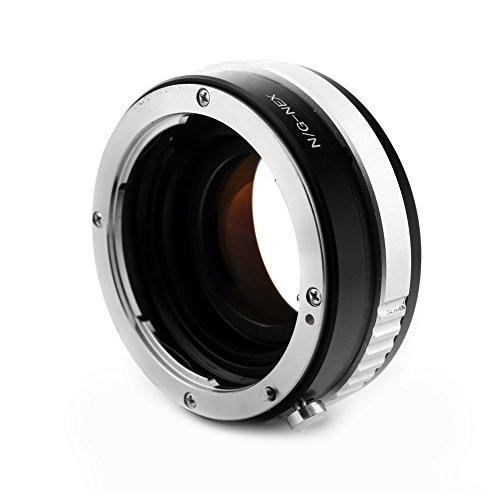 Focal Reducer Speed Booster) Nikon F S G AF Objektiv an Sony NEX E Kamera APS-C
