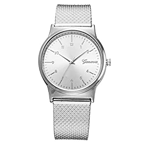 DIKHBJWQ Mode Smartwatch Damen Digital Armbanduhr Fitness Stahl Gürtel Quarz Uhren Temperament Armband Sportuhr Automatik Magnetschnalle Geschenk Uhr Gold Kinder