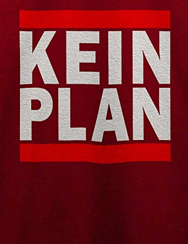 Kein Plan T-Shirt Bordeaux